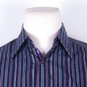 Robert Graham Blue/Purple Button Front Shirt